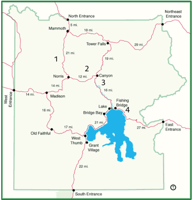 yellowstone entry points